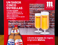 MAHOU CINCO ESTRELLAS: packaging and promotion