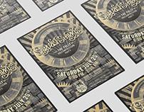 sawdust + sparkles // poster design