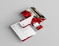 Red Interior Design Stationery