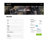 Legion Run Manila - Registration Page