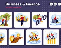 M191_Business & Finance Illustration Pack