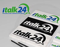 iTalk24 logo design proposal