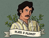 Ilustração - Pablo Escobar (Narcos)