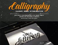 Calligraphy Mockup Scene