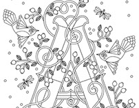 Adult Coloring Pages: Letters