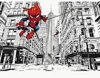SpiderHam Vrs New york city.