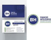 Diseño de logo y tarjetas de presentación.
