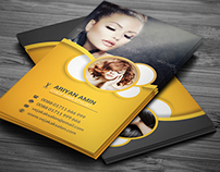 Hair Salon Business Card Tempate