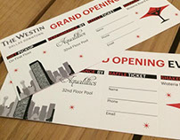 Westin Grand Opening Ticket