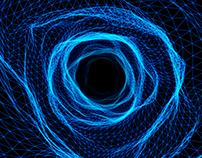 Hyperloop Warp Wire -Blue- Seamless Loop / HD,4K