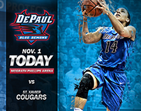 Women's basketball Gameday graphics