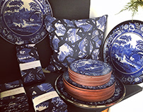 Blue Willow Pattern - surface pattern & product design