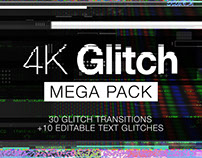 Mega 4K Glitch Transitions Pack