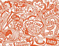 Street Food Mural • Global Technology Giant