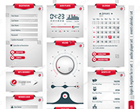 UI, UX, login & register , audio player, event valendar