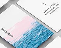Projet Business Card Sarah Esthétique