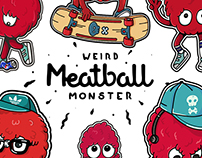 Meatball Monster stickers