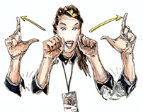 Illustration for TedX Athens 2017, Sign Language