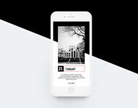 21st February History app UI Design