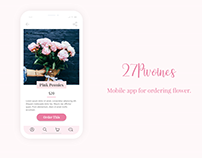 27Pivoines - Flower Ordering [Adobe XD Daily Challenge]