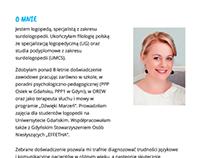 A freelance logopedist website