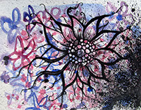 Abstract Inky Flower