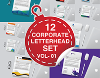 12 Corporate Letterhead Set