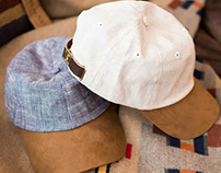 Product Design for Elusive Society chambray linen hats
