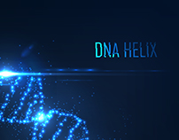 Dna helix consist of glowing particles