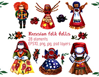 Russian folk dolls