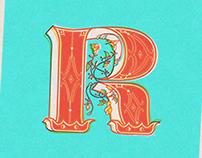 Lettering R