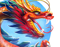 Dragon character of the Chinese slot