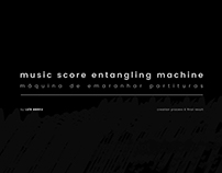 music score entangling machine