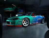 Odi Bakchis' Falken Tire Nissan Silvia