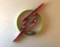 The Flash logo, shelf, interrior, design, bookshelf