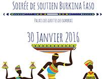 PLAQUETTE - SOIREE DE SOUTIEN AU BURKINA FASO