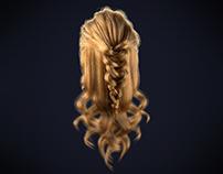 Female Hairstyle - Half Braid