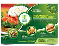 Green Food Flyer Template