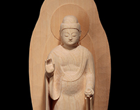 Unpainted Budhist statues 木地仕上げの御像
