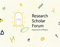 Logo Design   Research Scholar Forum, Dept of Physics