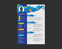 Free Geometric Resume Template