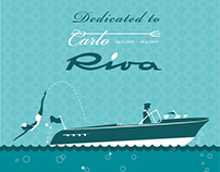 Riva Yacht - Retro illustrations