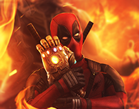 DEADPOOL AND AVENGER INFINITY WAR CROSSOVER