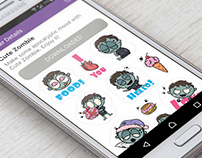 Funny Zombie sticker pack