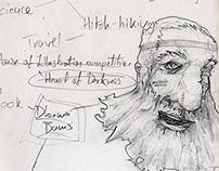 The Dharma Bums by Jack Kerouac - Sketchbook