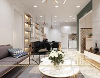 Thiết kế nội thất chung cư An Bình hiện đại - căn B3 A6