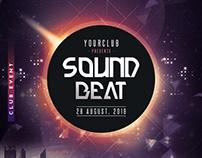 Sound Beat - Free PSD Flyer Template