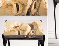 Topographic Side Table