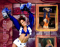 Cheerleader sports photography template