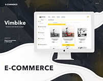 E-commerce • UI • Vimbike • Web • Design • Layout